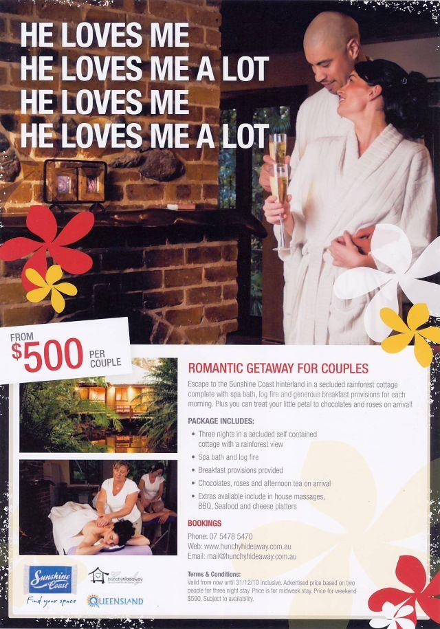 Tourism Queensland Special Offer – Luxury Montville Cabins from $500 per couple